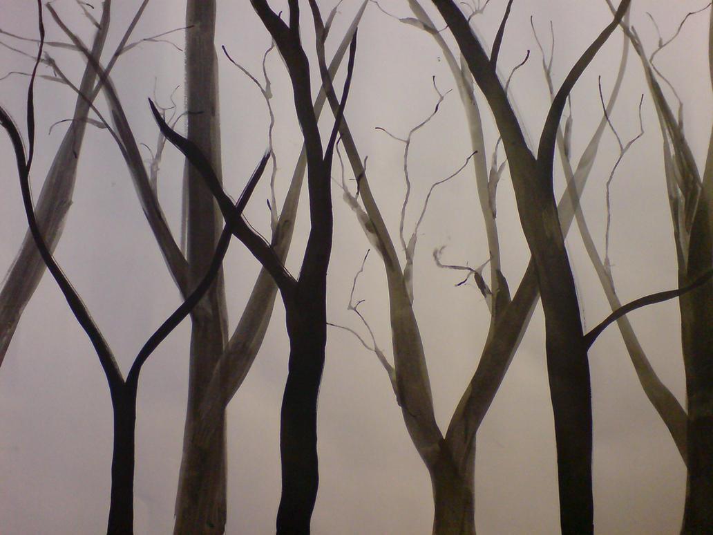 ink tree drawings 4 by kiriaki - Tree Drawings