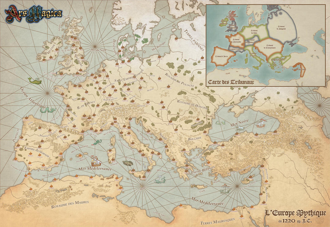 Ars Magica Mythic Europe 1220 by DePassage