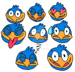 Squawk in Disney emoji blitz style
