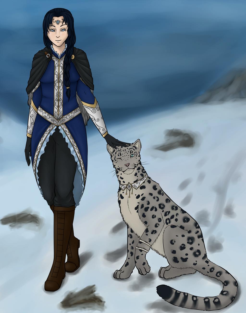 Miyuki Tayukai and her Companion Kiri by Auriyee