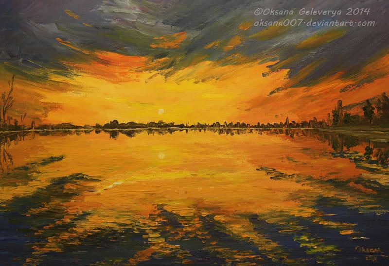 The sunken sunset by Oksana007