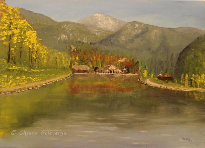 Autumn lake by Oksana007