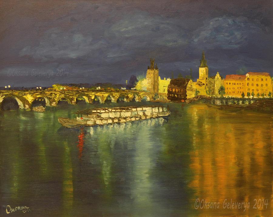 View On Charles Bridge - Prague by Oksana007