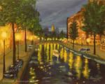 Cloudy Night In Amsterdam