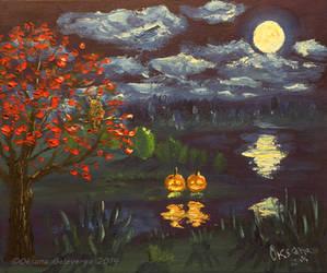Halloween Night - Owl of a season by Oksana007