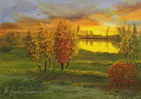 Peaceful Sunset by Oksana007
