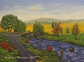 Autumn River - oil on canvas by Oksana007