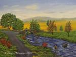 Autumn River - oil on canvas