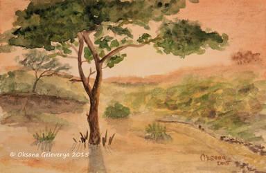 Sunlight - watercolor by Oksana007