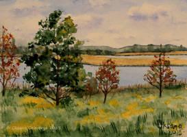 Sunny Autumn - watercolour by Oksana007