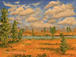 Autumn - Sunny Day - oil by Oksana007