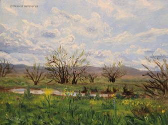 Spring day - oil on MDF