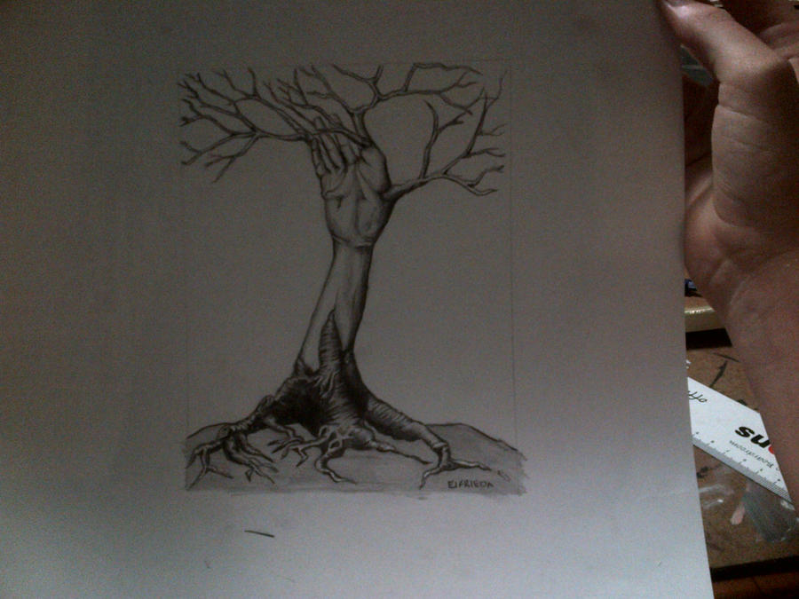 Dark Love Drawings Reaching (before frame...