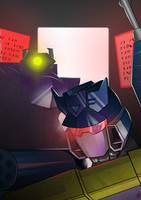 Soundwave and Shockwave Cover by DarkLordZafiel