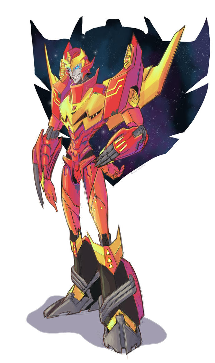 Rodimus Reference by DarkLordZafiel