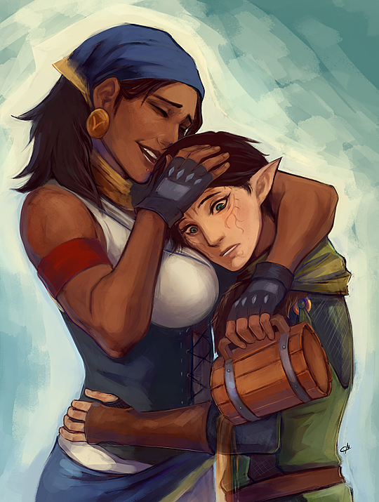 Isabela and Merrill by commandermutt
