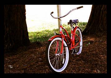 Shiny Red Bike by TeaPhotography