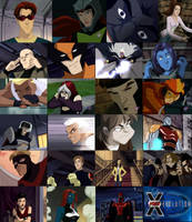 X-Men Evolution characters by The-Rogue-Whisper