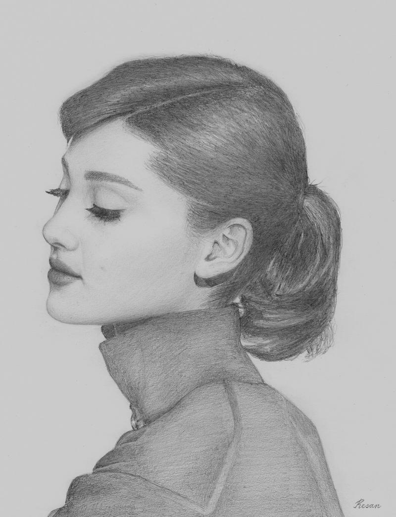 Ariana Grande as Audrey Hepburn by ResanVanLeeuwen