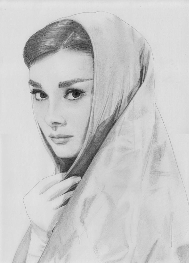 Audrey Hepburn by ResanVanLeeuwen