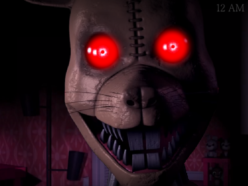 Night 7 Fail Nightmare Animatronic Jumpscare Fnaf 4 – Dibujos Para