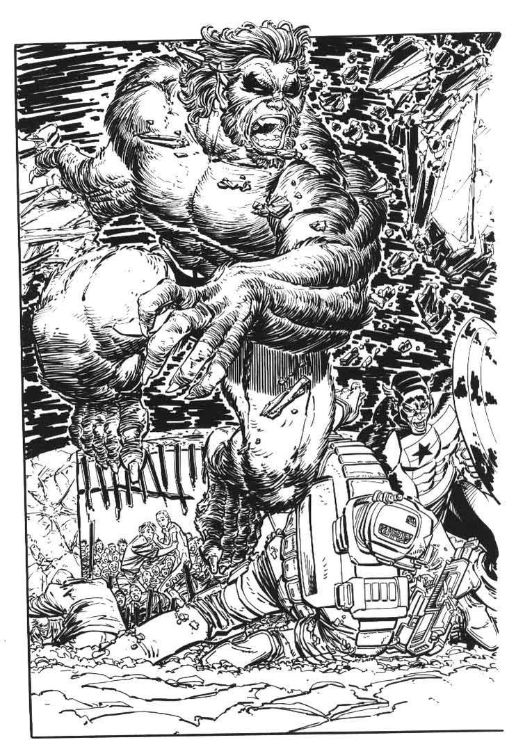 Comic Book inking sample 0001 by dbull