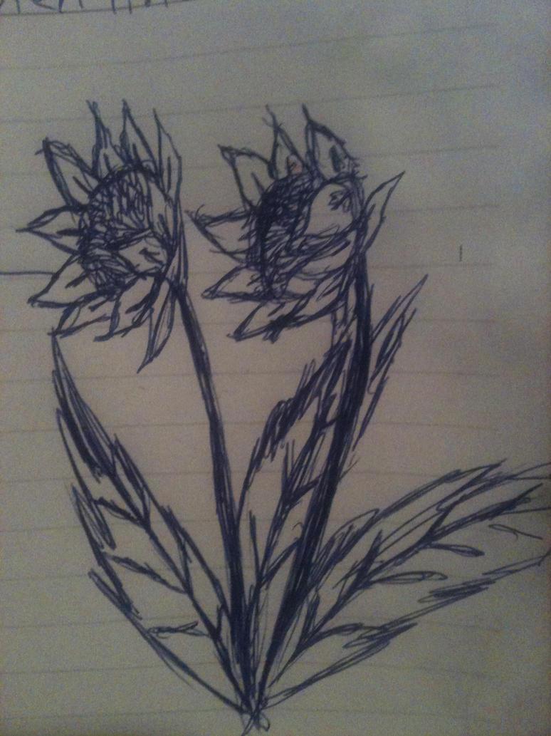 Sunflower doodles by Adriellovesart