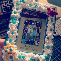 CUSTOMIZED SPONGEBOB PICTURE FRAME by greenrave
