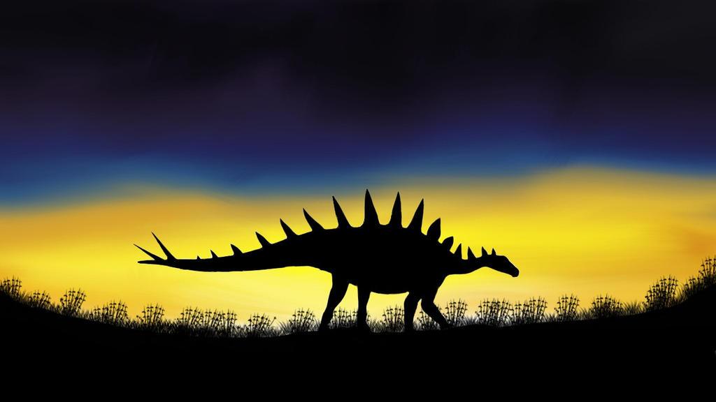 Tuojiangosaurus multispinus. by ARTPogonin