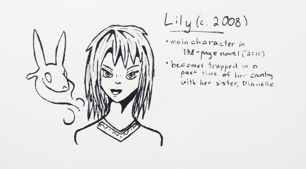 OC Inktober Day 4 - Lily by Skyleap