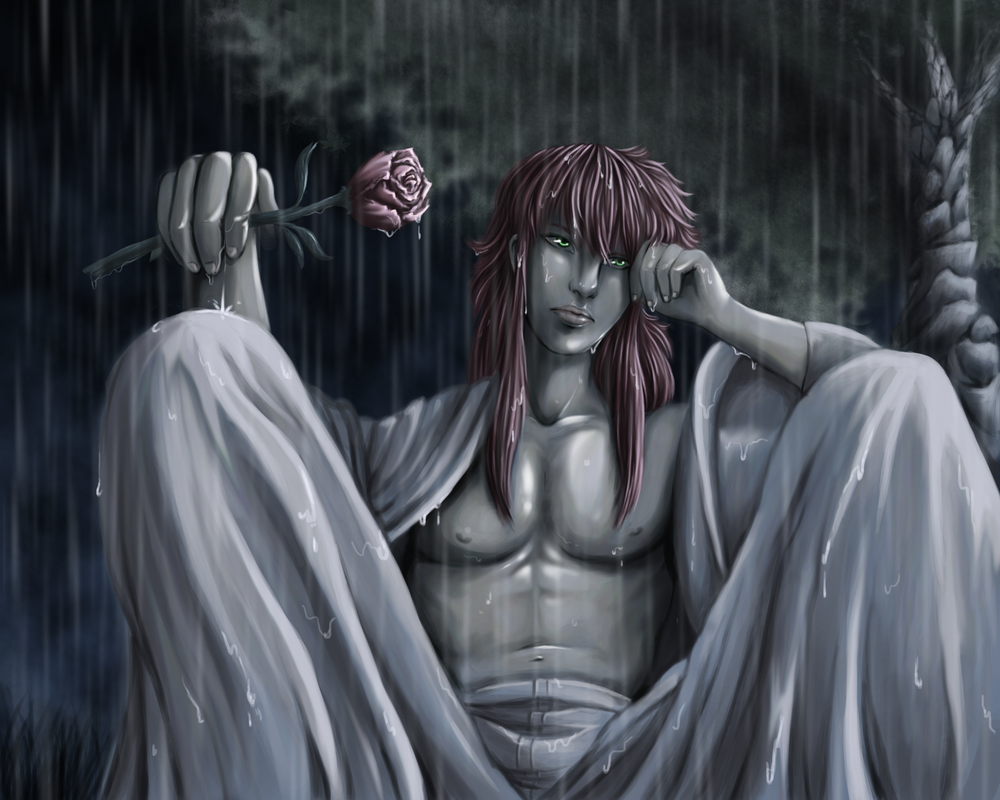 Kurama in the rain by HieixThexEpic