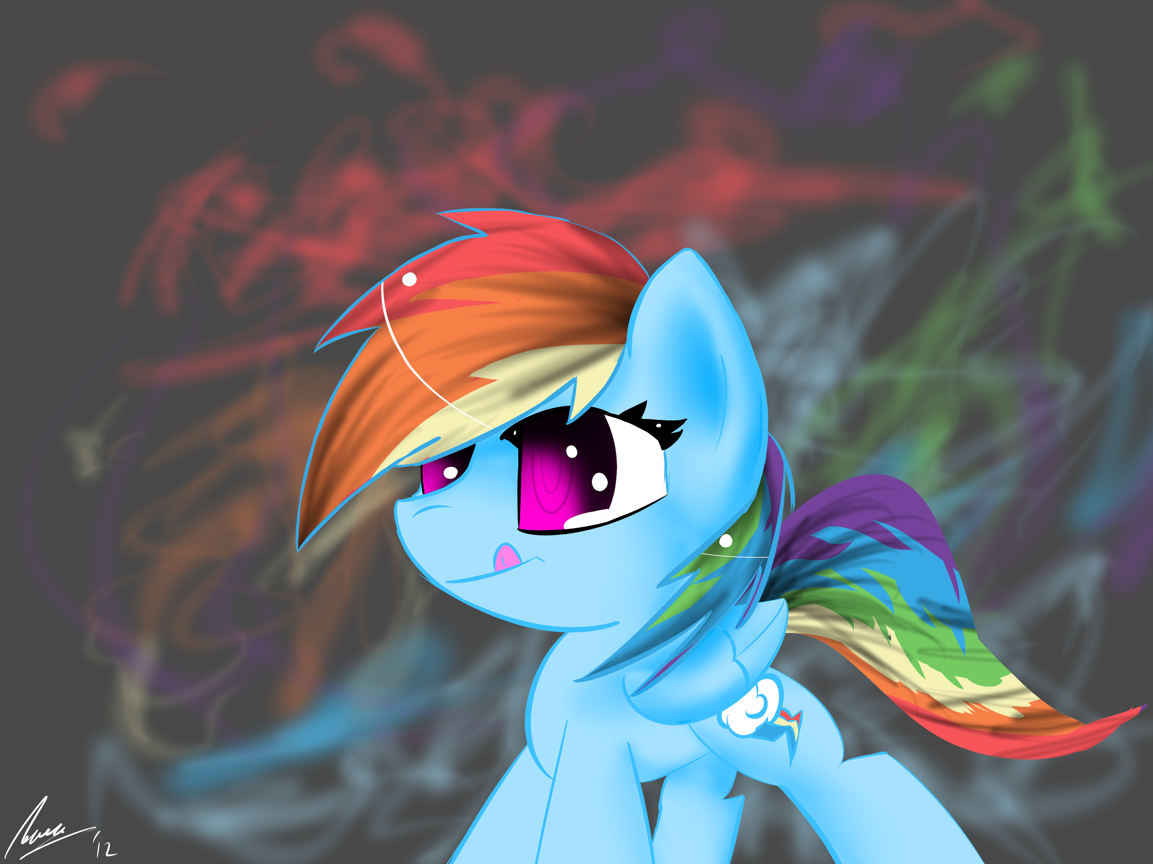 Rainbow Flourish by StrangeMoose