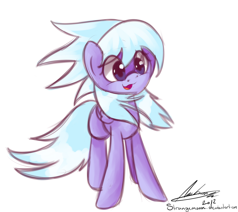 Cloud Chaser Cutie! by StrangeMoose