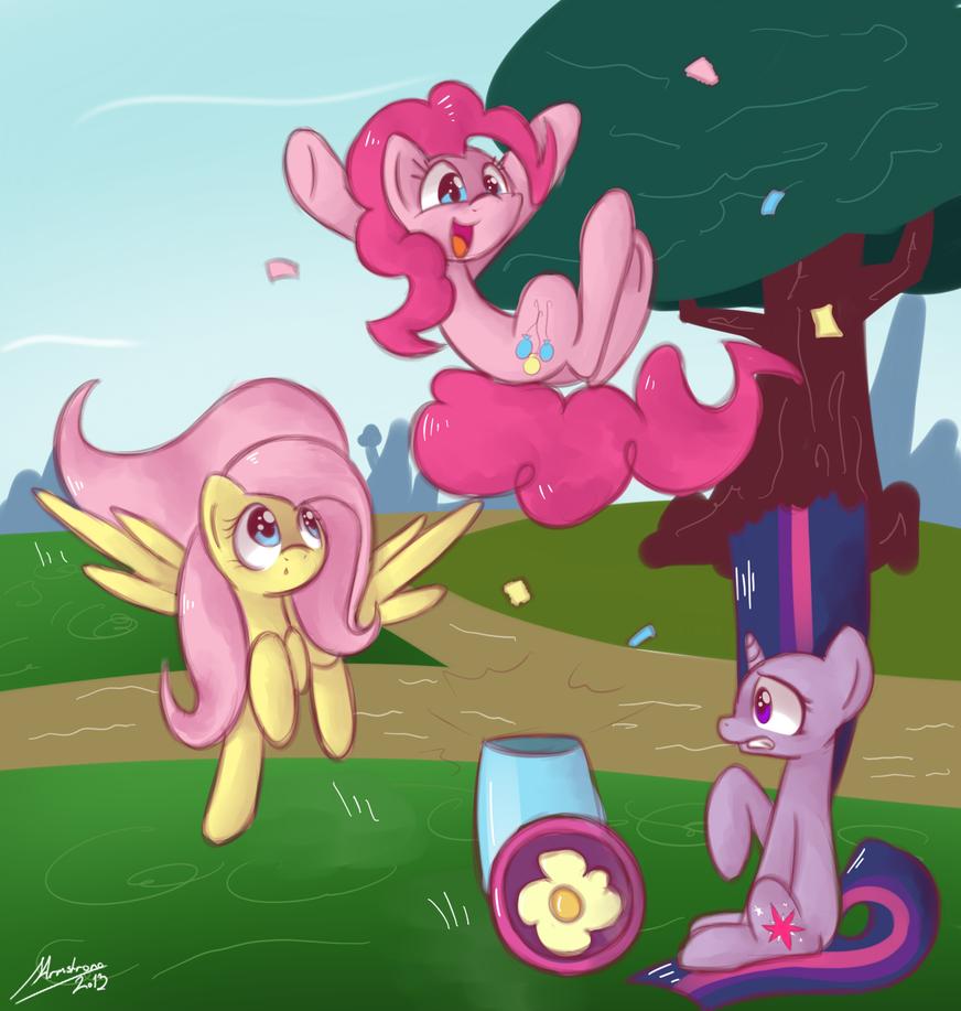 Pinkie inbound! by StrangeMoose