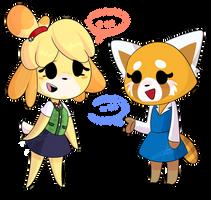 fanart- Retsuko and Isabelle (Crossover) by Shadesummer