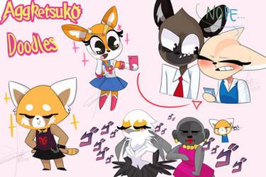 fanart-Aggretsuko doodles and memes
