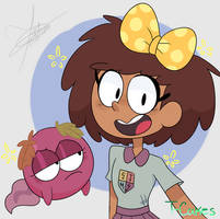 Amphibia-fanart- Anne and Polly