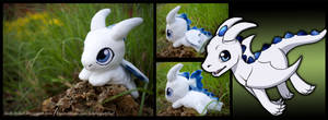 Little dragon plush + Character sketch