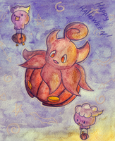 Pokemon Halloween Flight by KannaTC