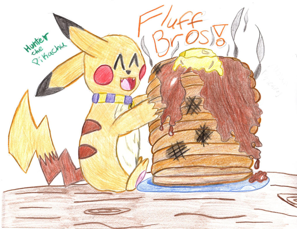 Hunter the Pikachu with Alolan Pancakes by Songal
