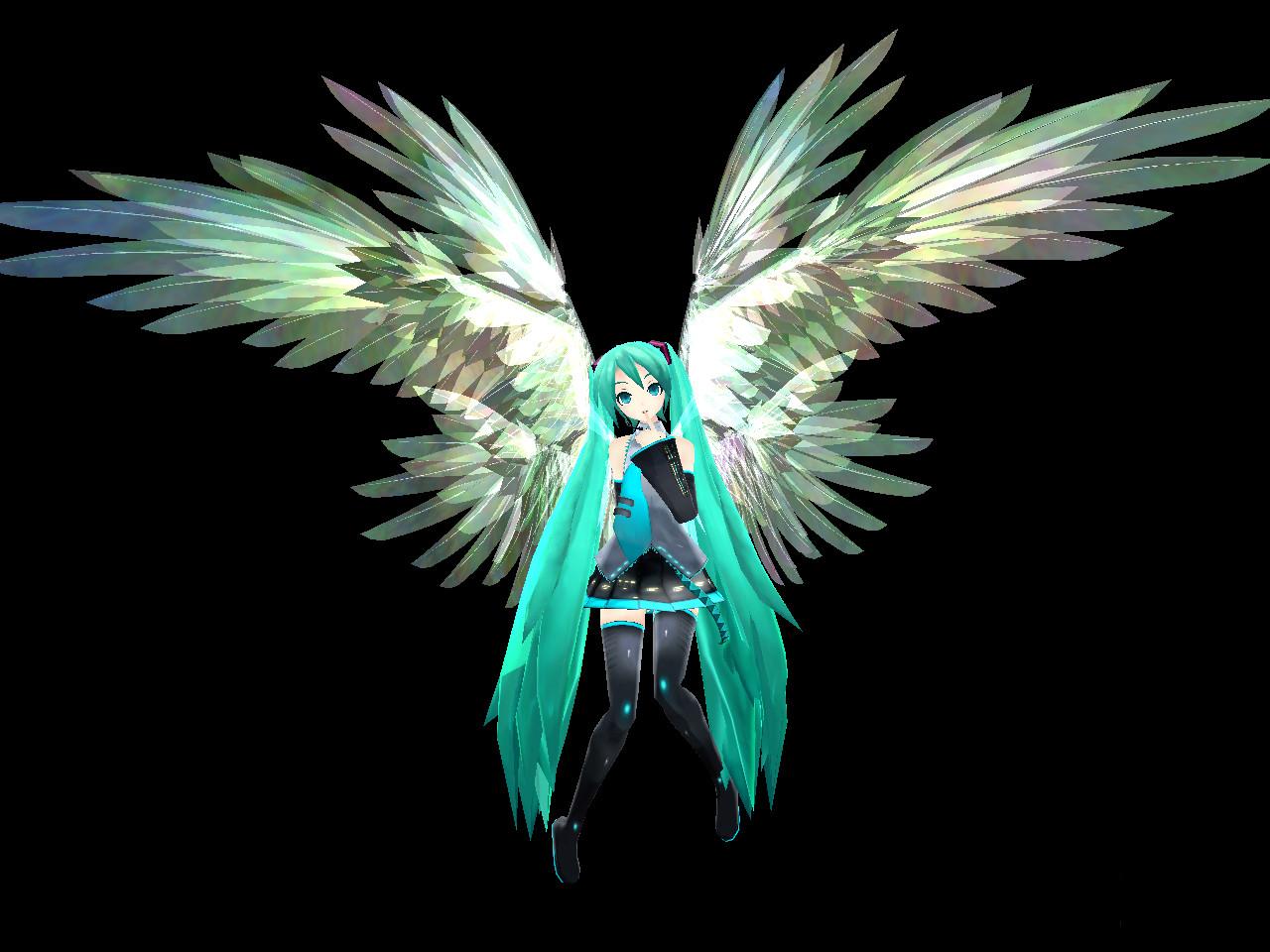 hatsune miku angel wallpapers - photo #3