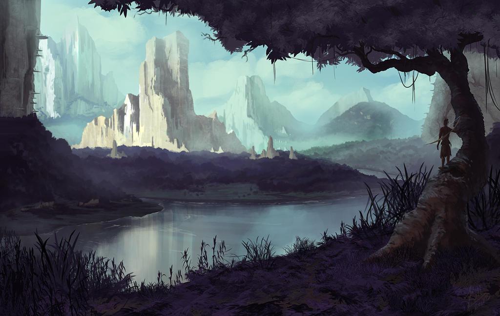 Jungle Painting by JasonRoll