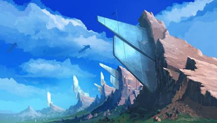 Chrome Mountains by JasonRoll