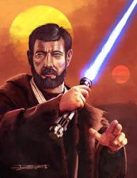 Obi-Wan Kenobi Tatooine Warrior by JasonRoll