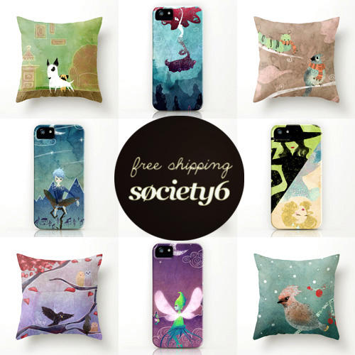Free shipping on society6! by SerenaR-art