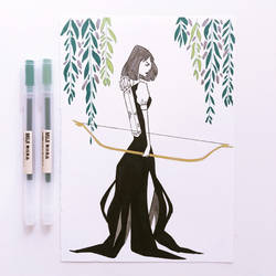 The Huntswoman by SerenaR-art