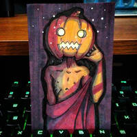 Pumpkin Head - Day 3 by Pentoculus