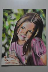 garota com leite