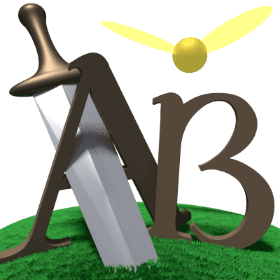 Logo for a videogame written for class by jmcateer