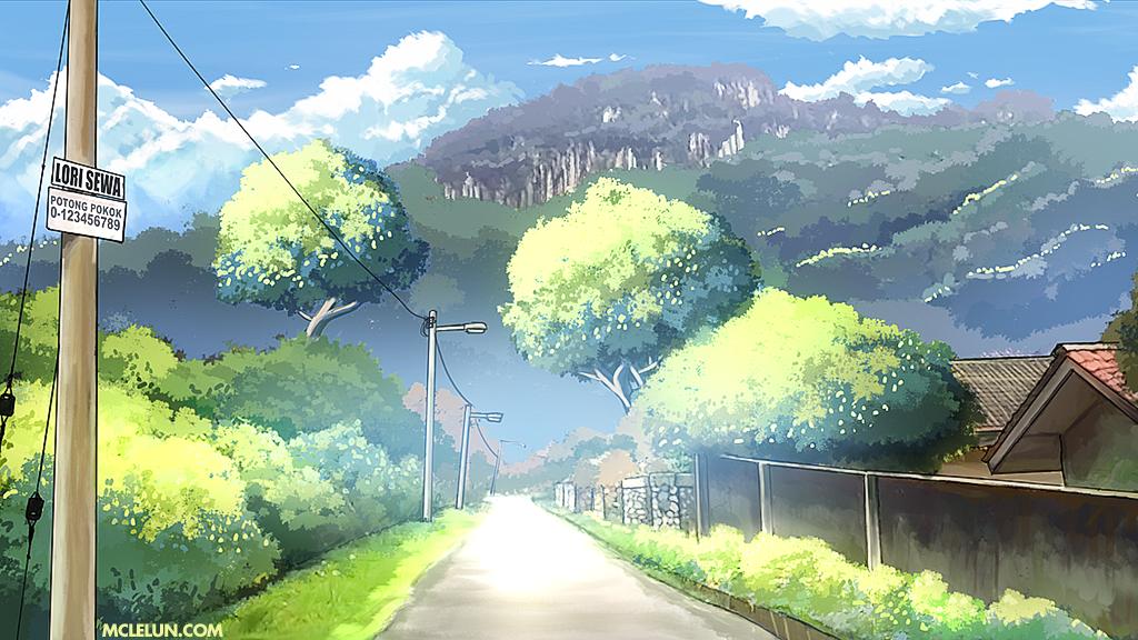 Makoto Shinkai Art Style By Mclelun